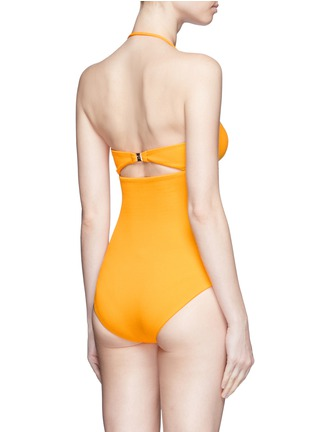 Back View - Click To Enlarge - MARYSIA - 'Antibes' cutout bow bandeau one-piece swimsuit