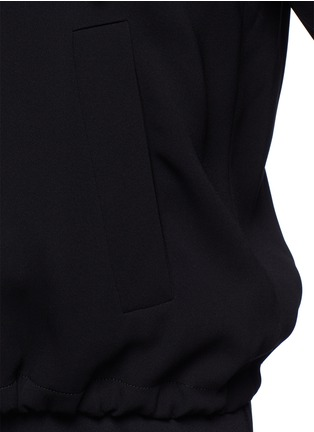 Detail View - Click To Enlarge - Theory - 'Charlia' admiral crepe zip hoodie