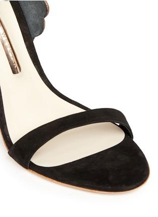 Detail View - Click To Enlarge - Sophia Webster - 'Evangeline' 3D angel wing appliqué suede sandals