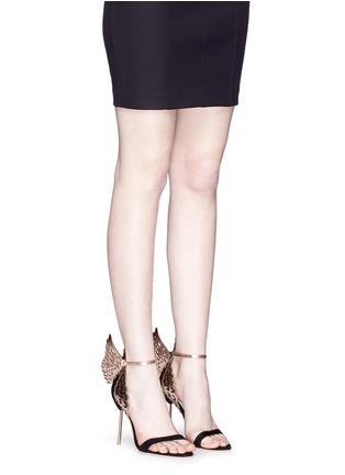 Figure View - Click To Enlarge - Sophia Webster - 'Evangeline' 3D angel wing appliqué suede sandals