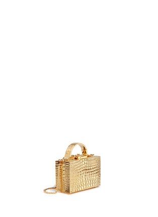 Figure View - Click To Enlarge - Mark Cross - 'Grace Box Mini' 18k gold plated brass trunk