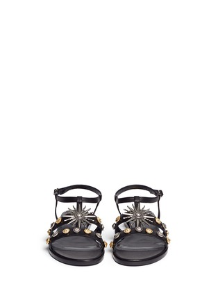 Front View - Click To Enlarge - FAUSTO PUGLISI - Metal stud leather sandals