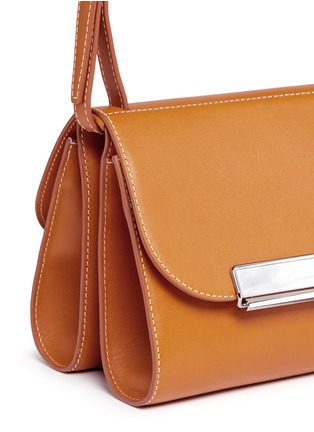 - Hillier Bartley - Pearlescent tab two-section leather shoulder bag