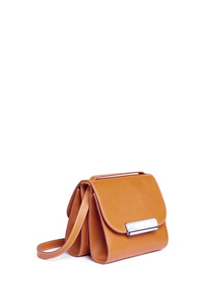 Front View - Click To Enlarge - HILLIER BARTLEY - Pearlescent tab two-section leather shoulder bag
