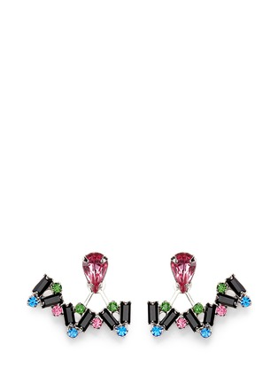 Main View - Click To Enlarge - Joomi Lim - 'Pixel Perfect' crystal ear deco earrings