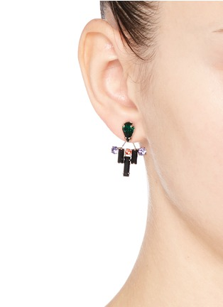 Figure View - Click To Enlarge - Joomi Lim - 'Pixel Perfect' crystal ear deco earrings