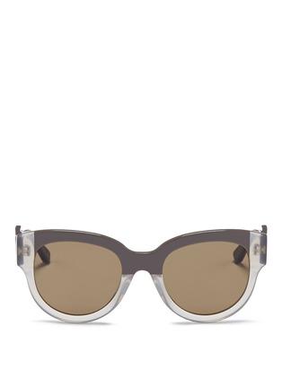 Main View - Click To Enlarge - Marni - Stripe colourblock acetate sunglasses