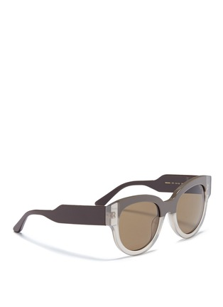 Figure View - Click To Enlarge - Marni - Stripe colourblock acetate sunglasses