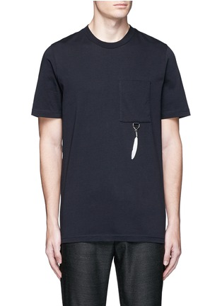 Main View - Click To Enlarge - OAMC - Feather charm cotton T-shirt