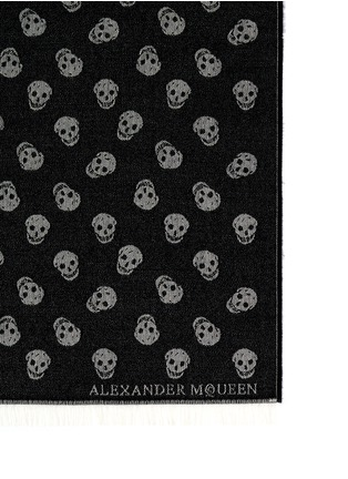 Detail View - Click To Enlarge - ALEXANDER MCQUEEN - Skull jacquard wool-silk scarf