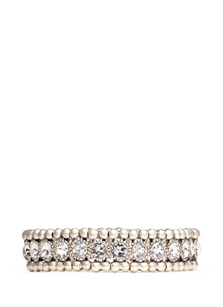 Main View - Click To Enlarge - Philippe Audibert - 'Solange' engraved Swarovski crystal elastic bracelet