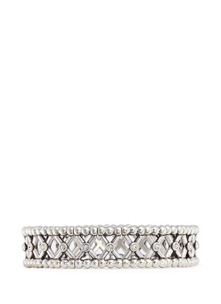Main View - Click To Enlarge - Philippe Audibert - 'Losey' beaded Swarovski crystal elastic bracelet