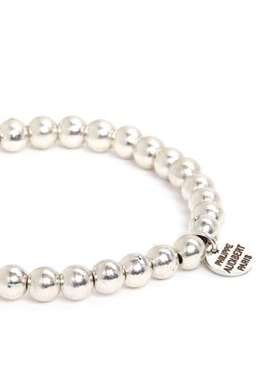 Detail View - Click To Enlarge - Philippe Audibert - 'Perles' metal bead elastic bracelet