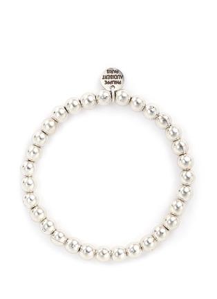 Main View - Click To Enlarge - Philippe Audibert - 'Perles' metal bead elastic bracelet