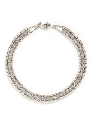 Main View - Click To Enlarge - Philippe Audibert - 'Solange' beaded Swarovski crystal necklace