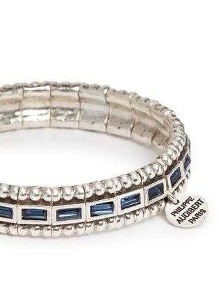 Detail View - Click To Enlarge - Philippe Audibert - 'Cesario' inset Swarovski crystal elastic bracelet