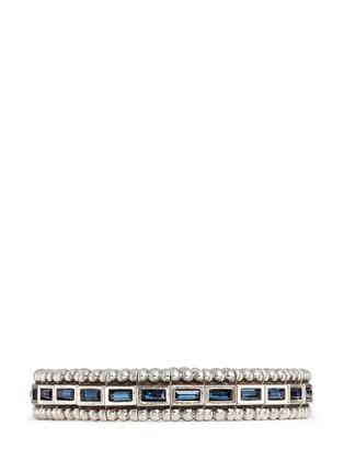 Main View - Click To Enlarge - Philippe Audibert - 'Cesario' inset Swarovski crystal elastic bracelet