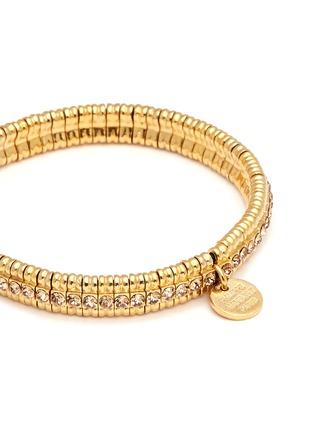 Detail View - Click To Enlarge - Philippe Audibert - 'New Broome' Swarovski crystal elastic bracelet