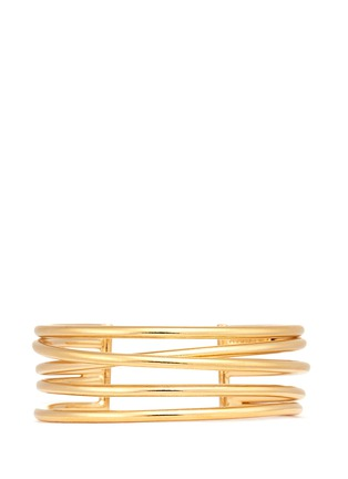 Main View - Click To Enlarge - Philippe Audibert - 'New Africa' crisscross caged cuff
