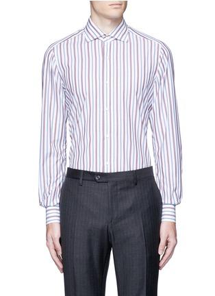 Main View - Click To Enlarge - ISAIA - 'Milano' stripe cotton shirt