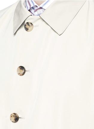 Detail View - Click To Enlarge - ISAIA - Reversible Aqua Cotton coat