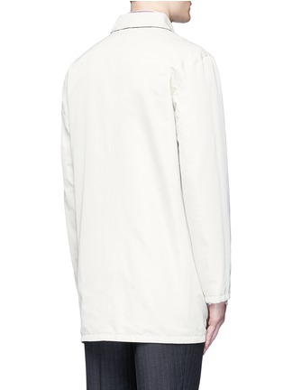 Back View - Click To Enlarge - ISAIA - Reversible Aqua Cotton coat