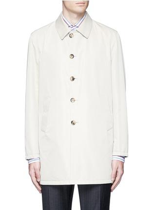 Main View - Click To Enlarge - ISAIA - Reversible Aqua Cotton coat