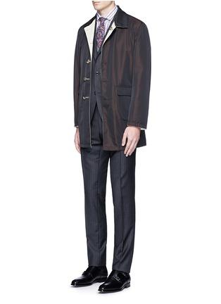 Figure View - Click To Enlarge - ISAIA - Reversible Aqua Cotton coat