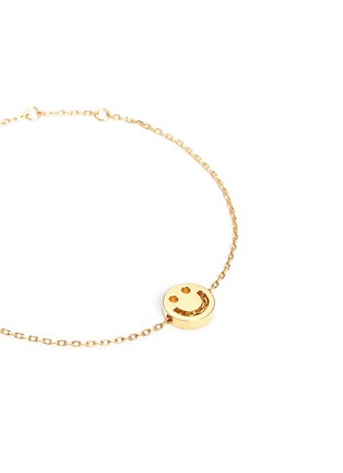 Detail View - Click To Enlarge - Ruifier - 'Happy' 18k yellow gold chain charm bracelet
