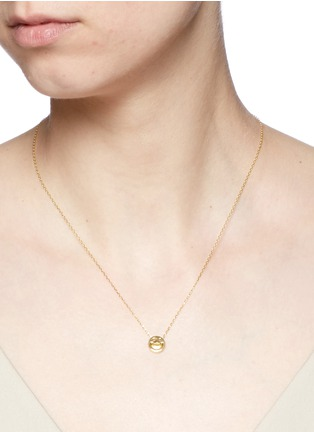Detail View - Click To Enlarge - Ruifier - 'Happy' 18k yellow gold chain pendant necklace