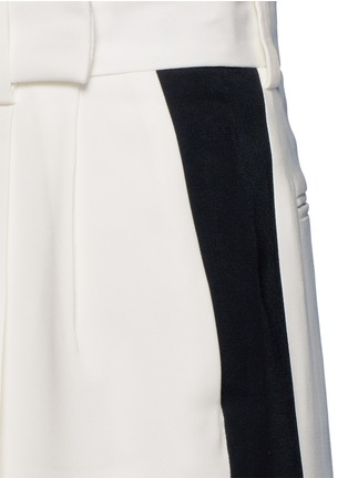 Detail View - Click To Enlarge - Lanvin - Tuxedo stripe washed crepe techno pants