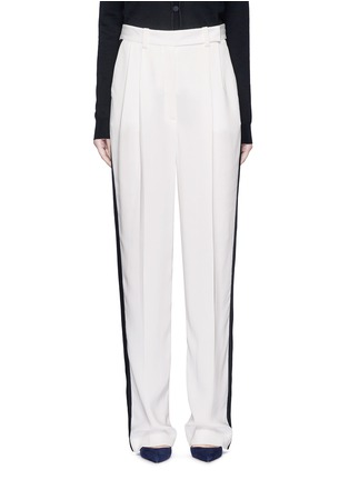 Main View - Click To Enlarge - Lanvin - Tuxedo stripe washed crepe techno pants