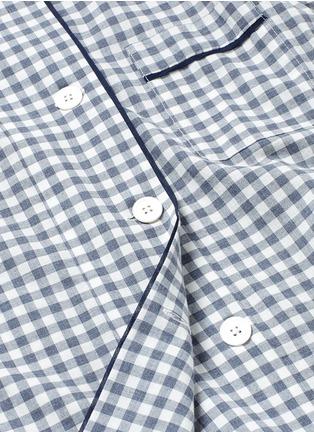 Detail View - Click To Enlarge - Araks - 'Kate' gingham check organic cotton pyjama top
