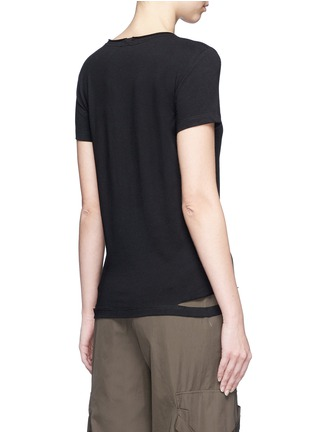 Back View - Click To Enlarge - Helmut Lang - Cutoff hem cotton jersey T-shirt