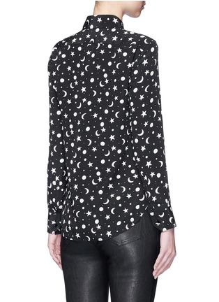 Back View - Click To Enlarge - SAINT LAURENT - Moon and star print silk shirt