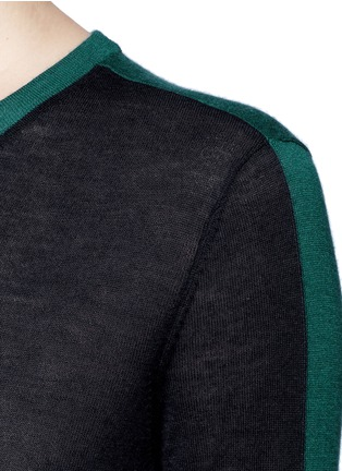Detail View - Click To Enlarge - rag & bone - 'Verity' contrast back long cashmere sweater