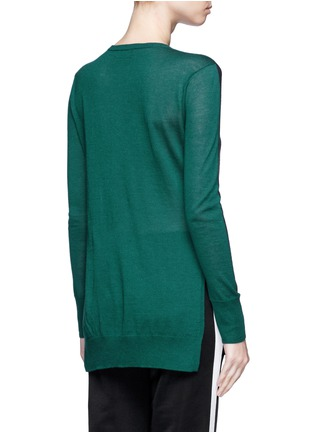 Back View - Click To Enlarge - rag & bone - 'Verity' contrast back long cashmere sweater
