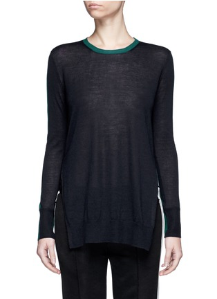 Main View - Click To Enlarge - RAG & BONE - 'Verity' contrast back long cashmere sweater