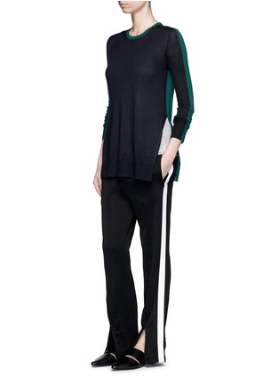 Figure View - Click To Enlarge - RAG & BONE - 'Verity' contrast back long cashmere sweater