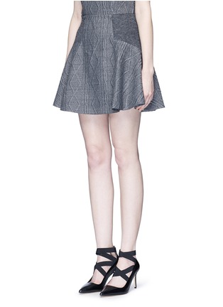 Front View - Click To Enlarge - alice + olivia - 'Elsie' knit effect flare skirt
