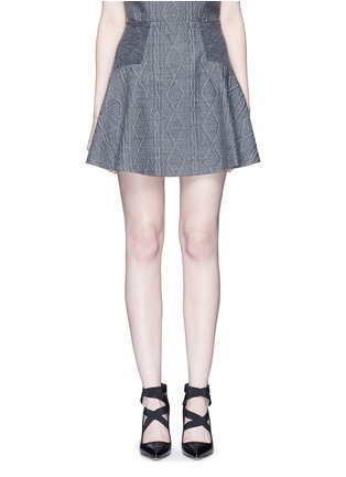 Main View - Click To Enlarge - alice + olivia - 'Elsie' knit effect flare skirt