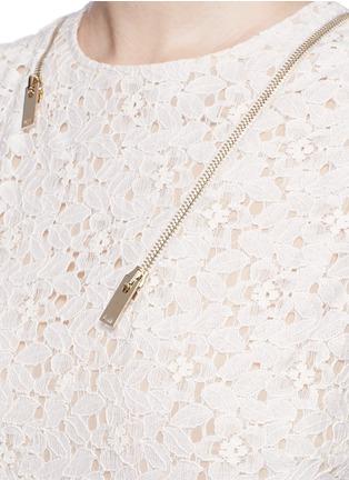 Detail View - Click To Enlarge - Stella McCartney - 'Janelle' zip trim floral lace midi dress