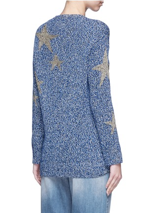 Back View - Click To Enlarge - Valentino - Metallic star intarsia mouliné knit sweater