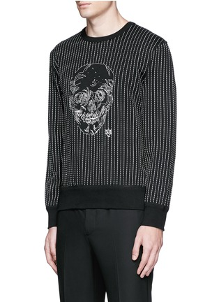Front View - Click To Enlarge - Alexander McQueen - Skull stitch embroidery cotton sweatshirt