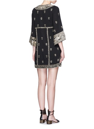Back View - Click To Enlarge - alice + olivia - 'Ray' bead embroidery V-neck dress