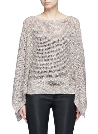 Main View - Click To Enlarge - alice + olivia - 'Emberle' mélange knit poncho