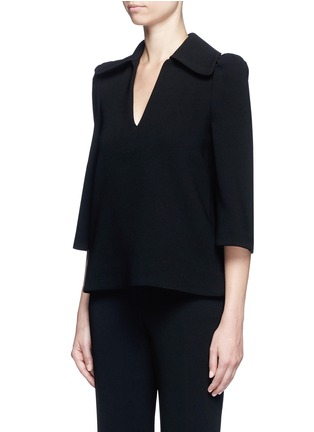 Front View - Click To Enlarge - Co - Flared sleeve crepe top