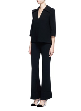 Figure View - Click To Enlarge - Co - Flared sleeve crepe top