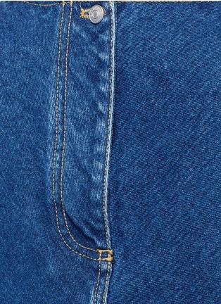 Detail View - Click To Enlarge - Balenciaga - Stonewashed cotton denim top