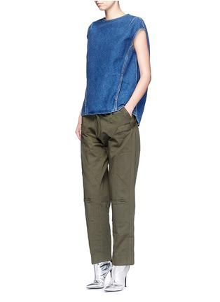 Figure View - Click To Enlarge - Balenciaga - Stonewashed cotton denim top